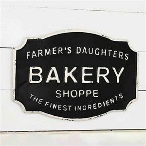 Farmer's Daughter Bakery Shoppe Tin Sign